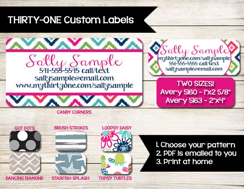 THIRTY-ONE | Labels | Stickers | Catalog Label | Order Form Label ...