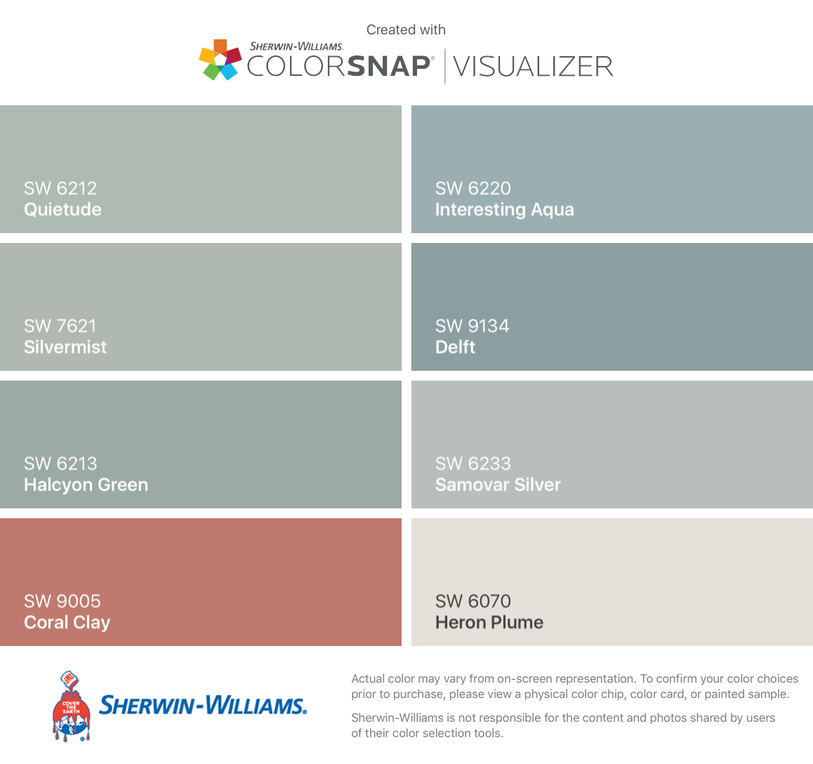 Sherwin williams paint colors sherwin williams 6249 storm cloud - I Found These Colors With Colorsnap Visualizer For Iphone By Sherwin Williams Quietude