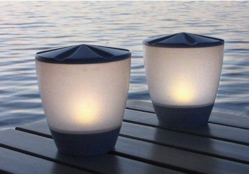 Solar Patio Table Lamp Led Candle Accent Light Turner A Unique 2 Sided Lantern Warm White