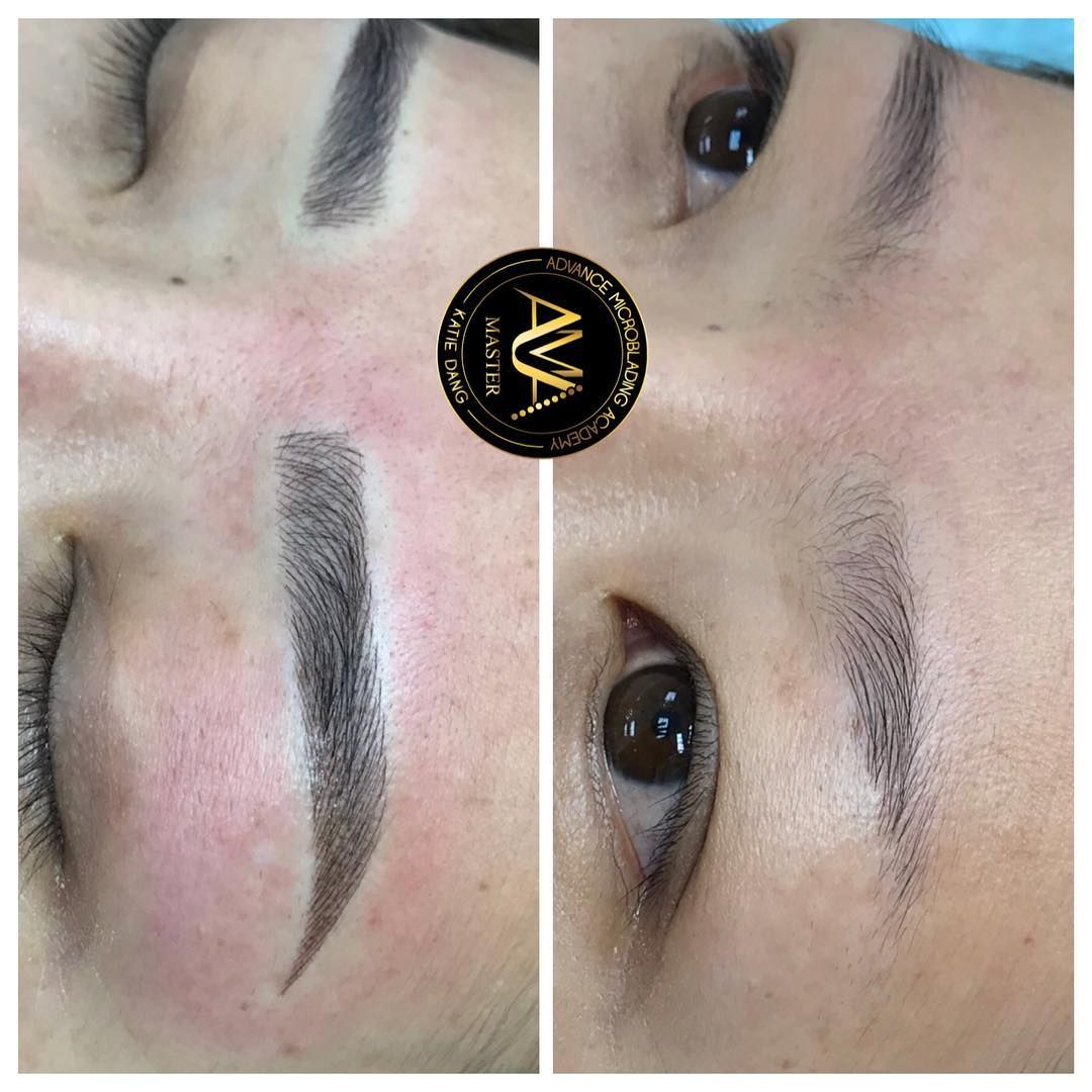 Asian Shape Microblading by Katie Dang. Service & Training