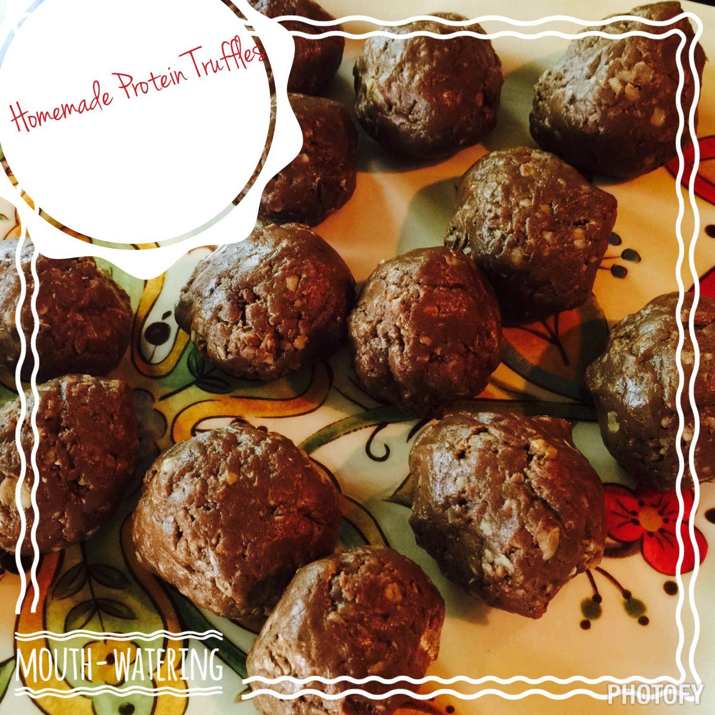 Shakeology Truffles 1 scoop Chocolate ShakeO 1/2 cup honey ...