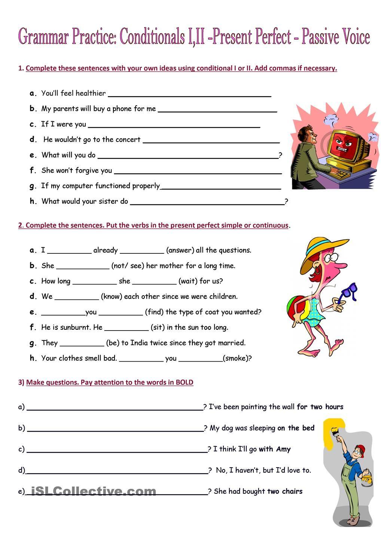 Grammar Practice Conditionals Iii Present Perfect