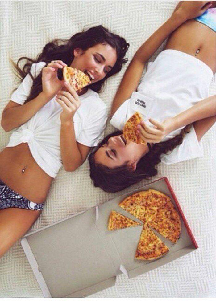 La pizza entre amies - cool idée photo meilleure amie