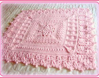 Crochetbabypatterncrochet patternblanketpatterncrochet crochet pattern baby blanket heirloom coverlet for baby pdf file instant dt1010fo