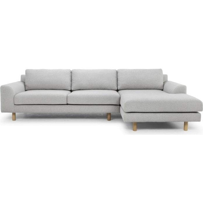 Sonia 3 Seater Sofa Right Chaise In Stone Grey Buy Fabric Sofas