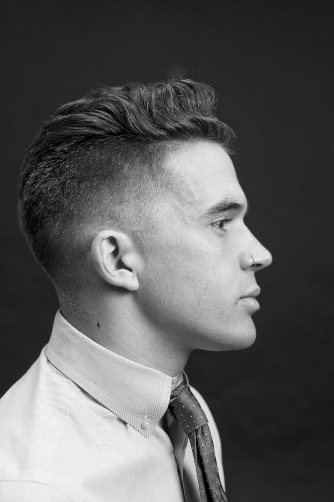 Tapered 50s Style Slick Over Notice He Has A Natural Wave Through