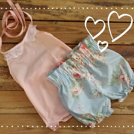 Halter Top and High Waisted Shorts -Baby Toddler Girls Bloomers ...
