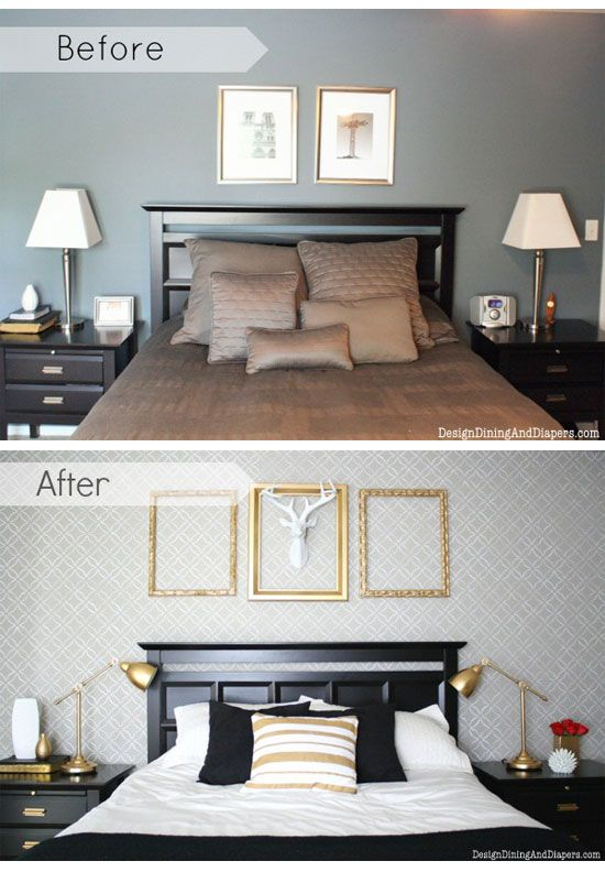 stencil stories decorating a bedroom on a budget with diy stencils - How To Decorate A Bedroom On A Budget