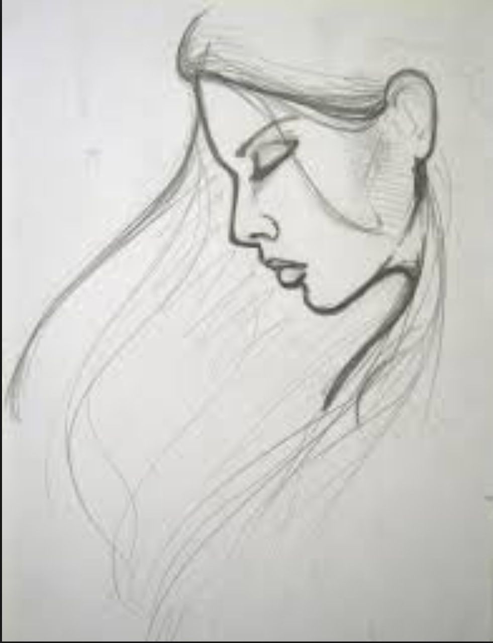 Drawing   Easy portrait drawing, Pencil drawing images, Pencil ...