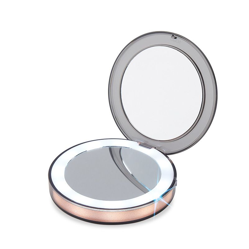 Led Lighted Compact Makeup Mirror Makeup Mirror With Lights