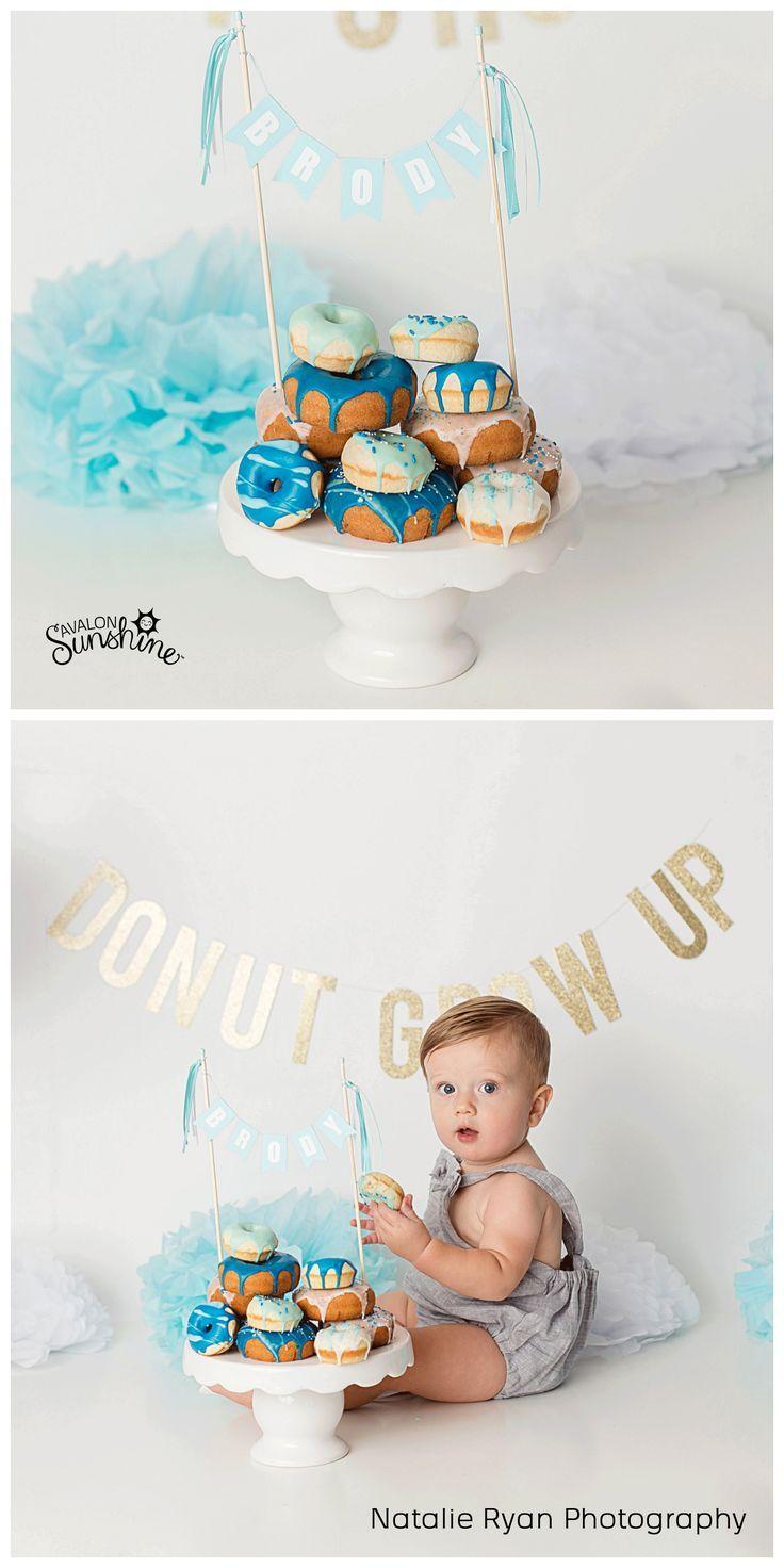 Blue Name Cake Topper #donutcake