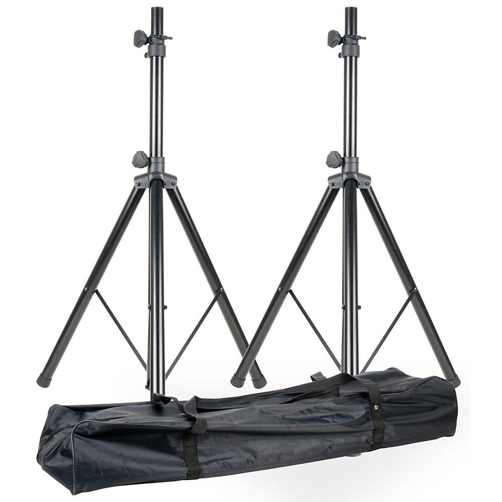 American Dj Spsx2b Speaker Stand Pair With Bag Regular In