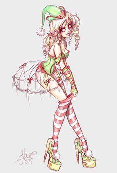 Christmas Elf Cute Art Kawaii Art Character Design