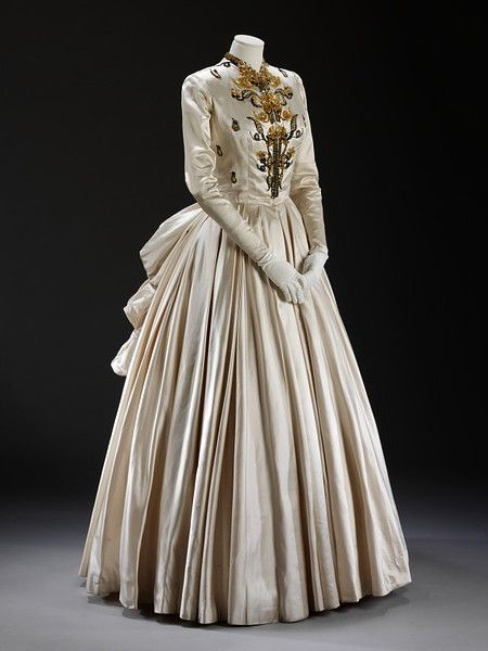 Photo of Evening dress and petticoat | Fath, Jacques | V&A Search the Collections