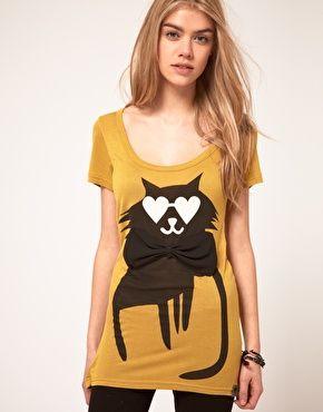 Numph Cat T-Shirt