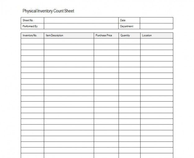 Inventory Sheet Sample Free House cleaning Pinterest 100 free