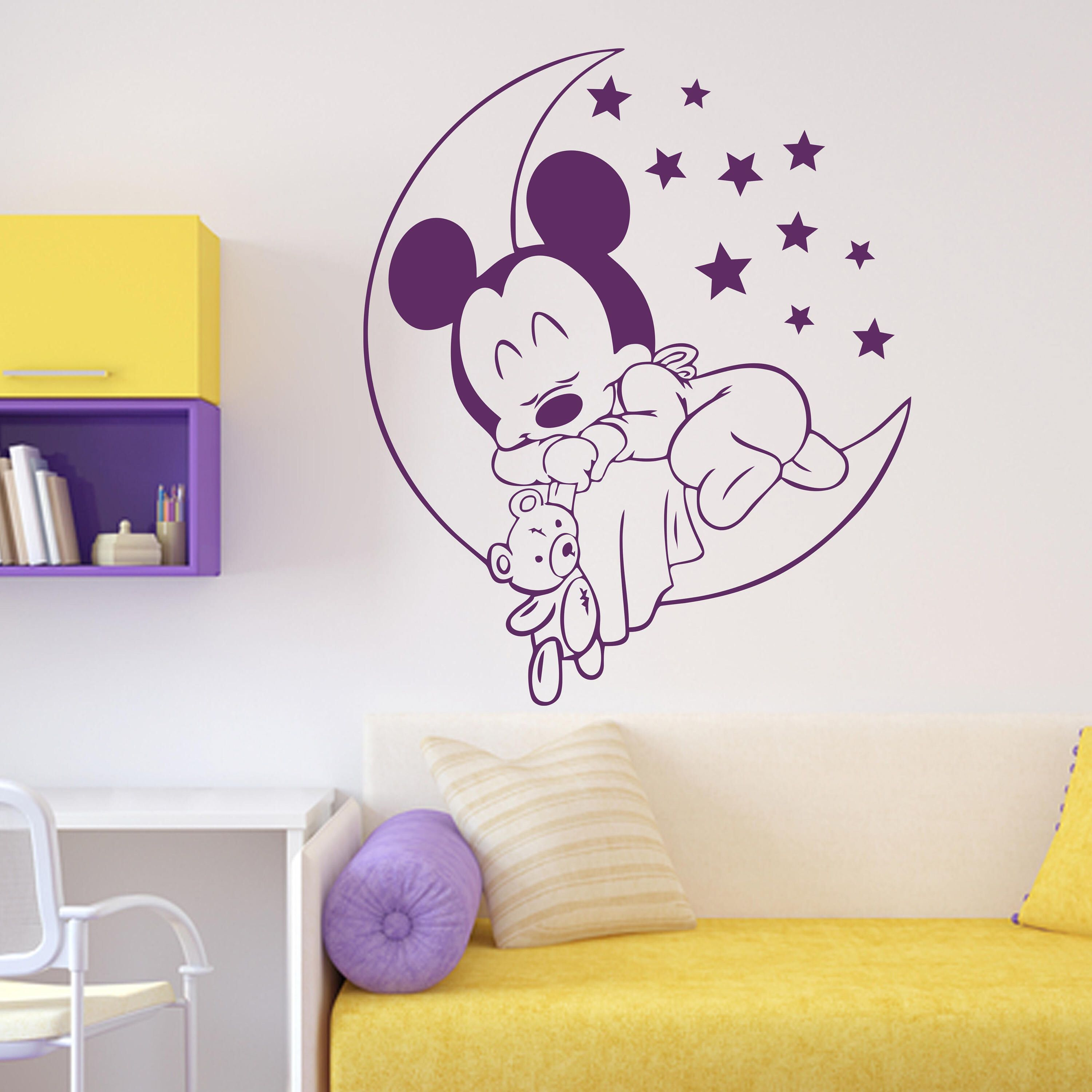 Mickey Mouse Baby Wall Decal Moon Stars Walt Disney Boy Vinyl Sticker Home  Playroom Bedroom Decor Part 82