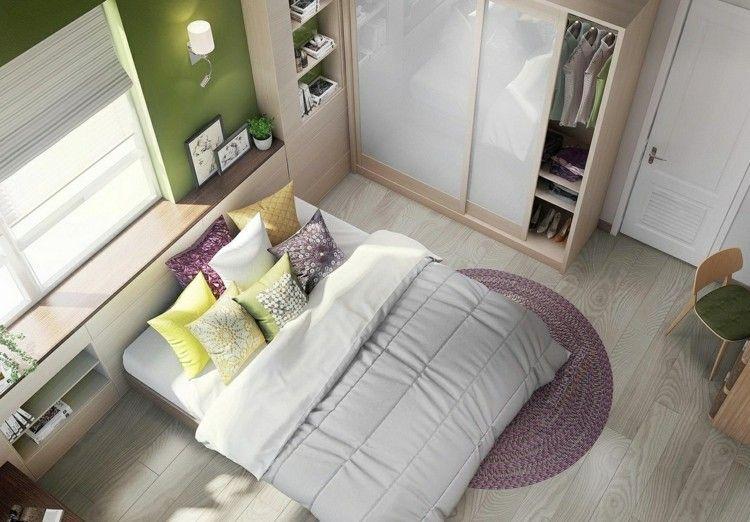 Kleines Schlafzimmer einrichten - platzsparende Idee haa - schlafzimmer einrichten 3d