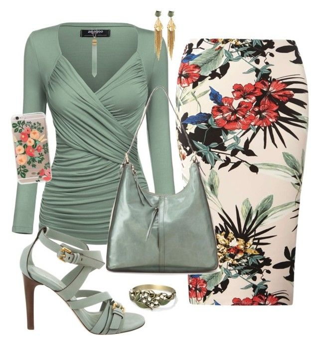 """""""sage"""" by traceyenorton on Polyvore featuring Dorothy Perkins, Alexis Bittar, Sweet Romance, Burberry, HOBO, Rifle Paper Co and Lily Kamper"""