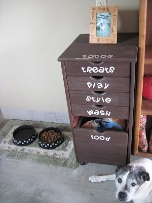 I Like This Idea For A Pet Area Although I M Thinking Our Dog S Food W Dogs Diy Projects Diy Dog Stuff Diy Stuffed Animals