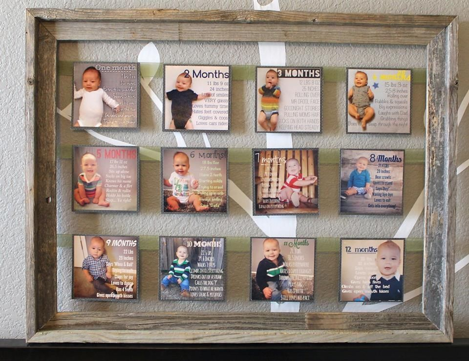Monthly Millstone Photo Frame Baby Mac Baby Milestones Monthly Baby Pictures Milestone Pictures Baby Month By Month