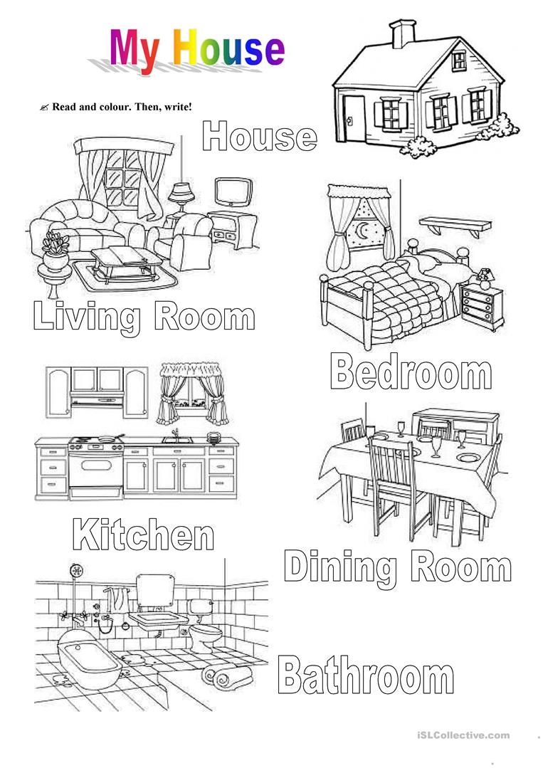 My House English Pinterest House English And Worksheets
