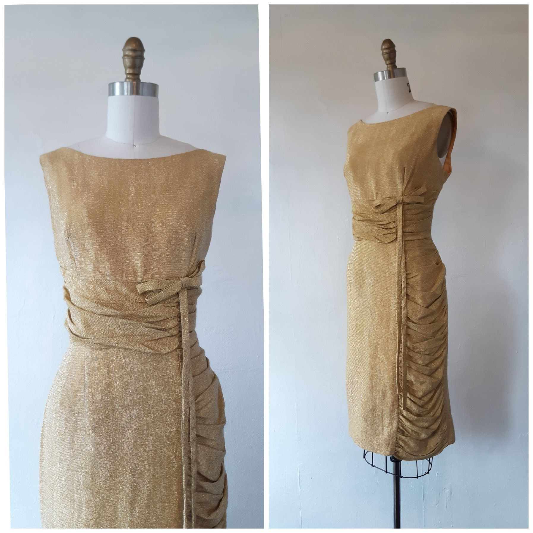 1960s Gold Wiggle Dress Vintage 1960s Gold Lame Wiggle Dress Vintage Gold Cocktail Dress Size Medium Gold Cocktail Dress Gold Party Dress Vintage Dresses [ 1795 x 1795 Pixel ]