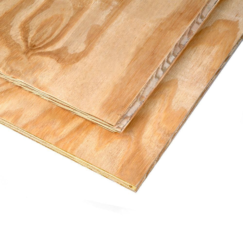 23 32 In X 4 Ft X 8 Ft Southern Pine Tongue And Groove Plywood Sheathing 605189 Tongue Groove Plywood Tongue Groove Flooring