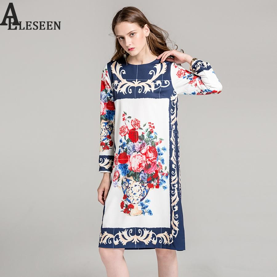 Vintage designer women dresses fashion autumn new casual loose