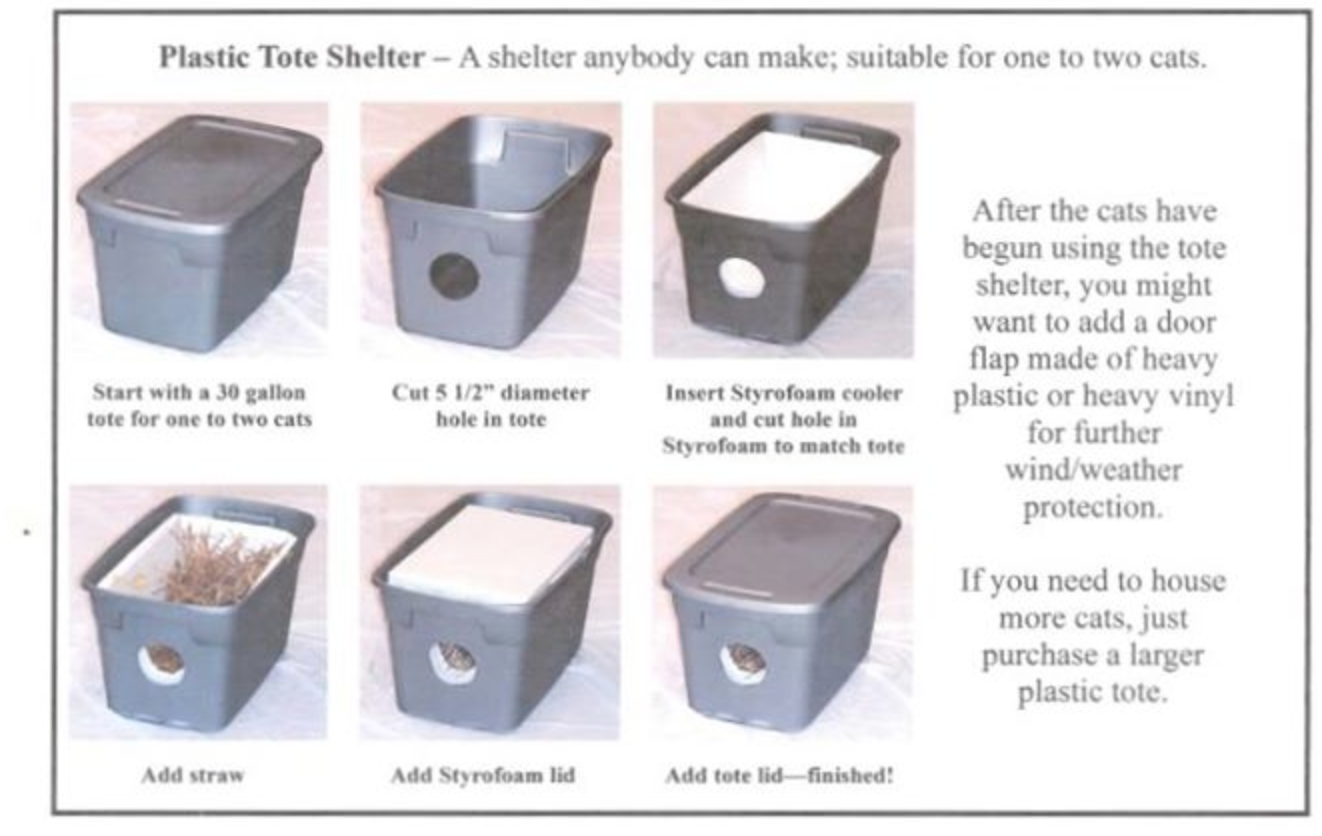 Build An Outdoor Shelter Protected From Wind And Rain Rubbermaid Bin Styrofoam Cooler