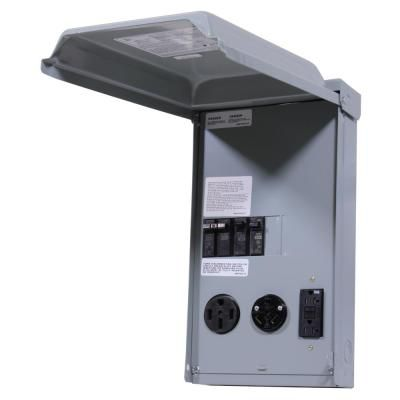 Ge Rv Panel With 50 Amp And 30 Amp Rv Receptacles And A 20 Amp Gfci Receptacle Ge1lu532ssp The Home Depot In 2020 Electrical Code Power Outlet Electronic Recycling