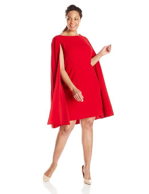 Adrianna Papell Women\'s Plus-Size Cape Sheath Dress | Clothings ...