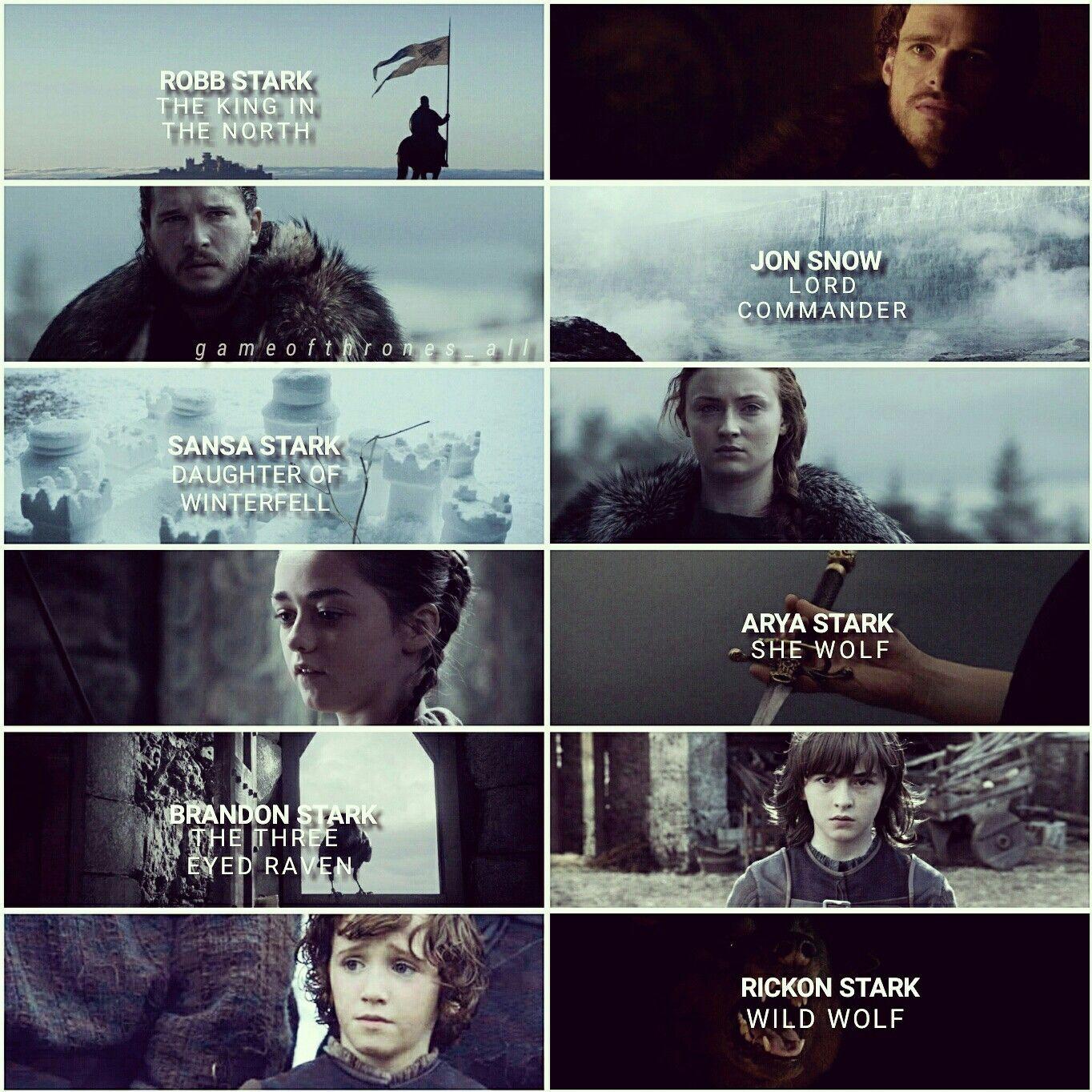 Starks Edit House Stark Winter Is Coming Jon Snow Sansa Stark Robb Stark Arya Stark Bran Stark Rob King In The North A Song Of Ice And Fire Sansa Stark