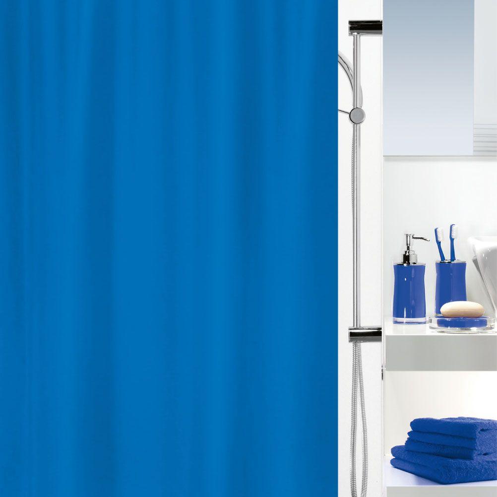 Spirella Primo Electric Blue Shower Curtain. #bathroom #blue   Blue ...