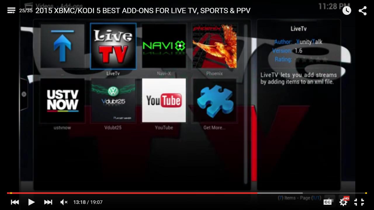 xbmc kodi tv 5 best addons for live tv live sports ppv