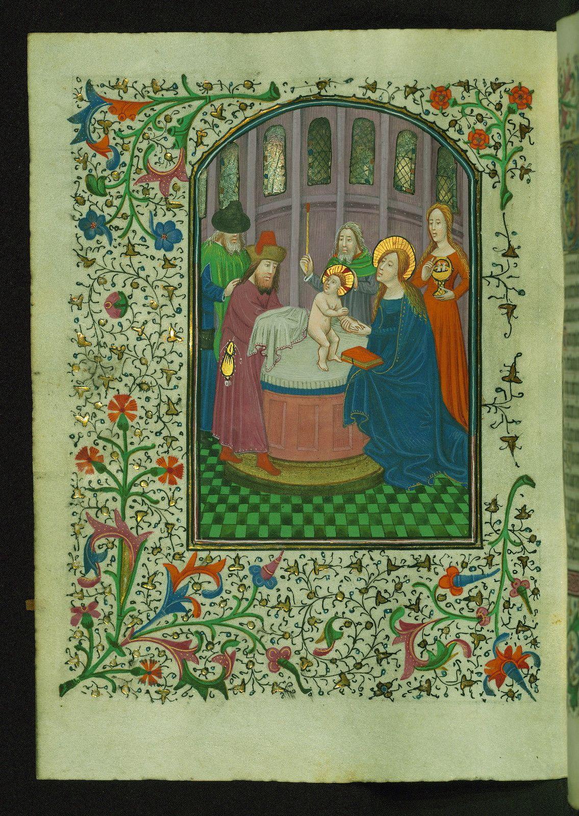 Book of Hours, Presentation in the Temple, Walters Manuscript W.246, fol. 76v | da Walters Art Museum Illuminated Manuscripts