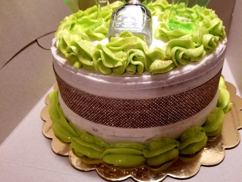 Patron Cake With Gold Bling Tinas Custom Cakes Treats