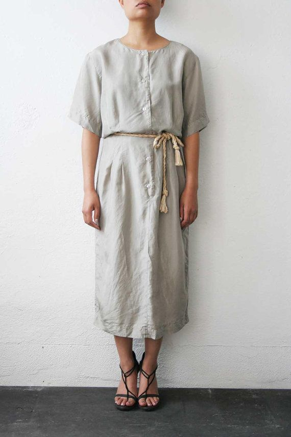 Grey Silk Dress by weltenbuerger on Etsy, $72.00