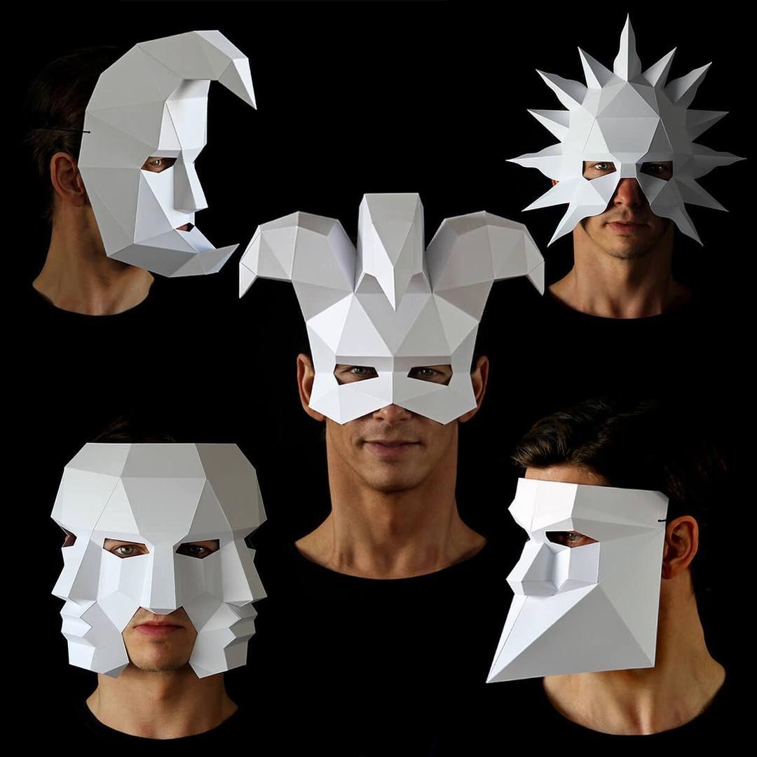 Three Face Mask Paper Mask Animal Masks Diy Paper Mask Template