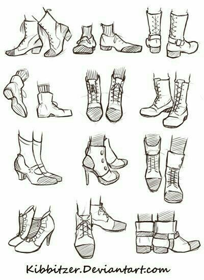 Shoes text how to draw manga anime