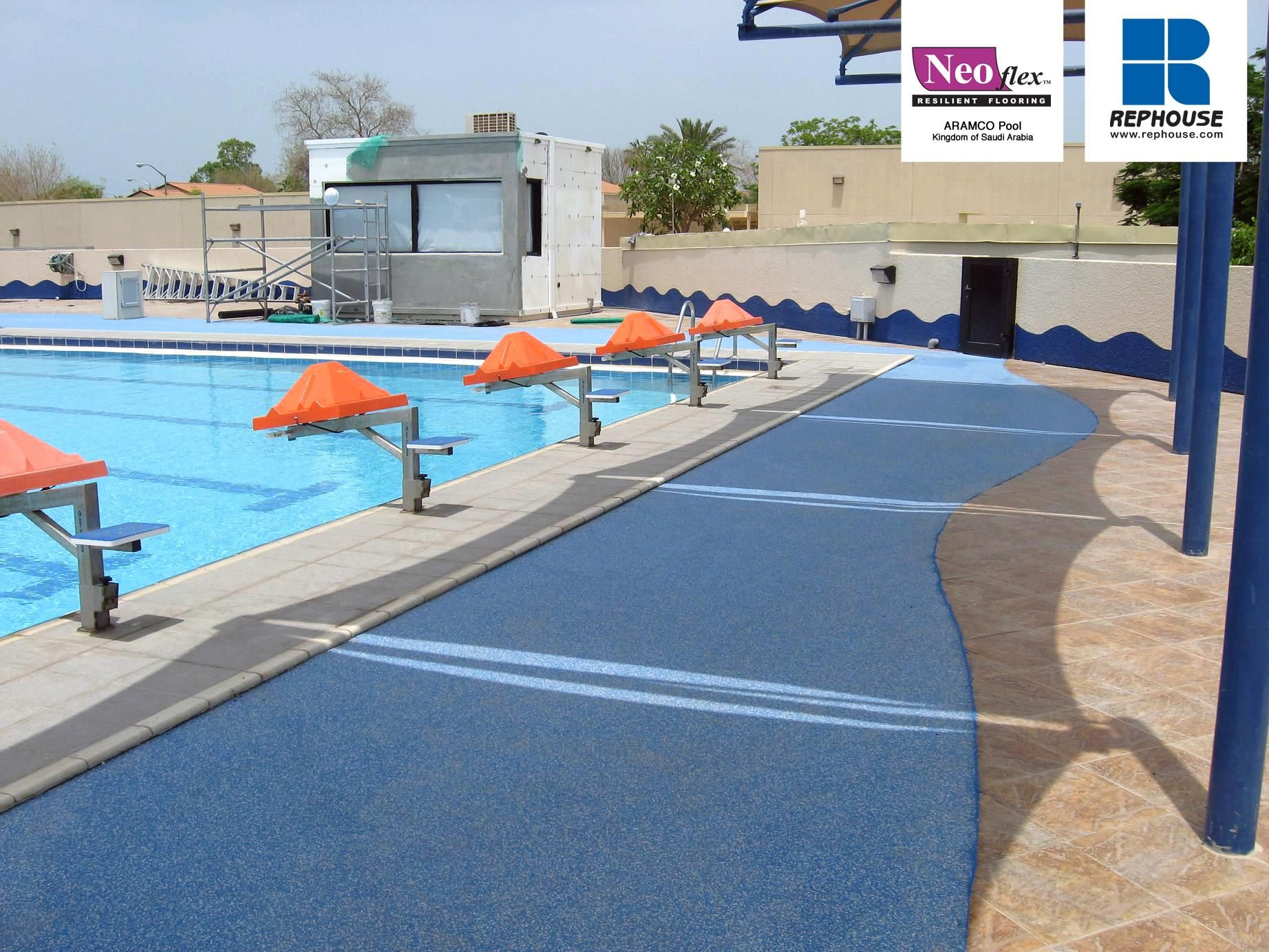 Neoflex 600 Series Rubber Pool Surround Flooring ARAMCO