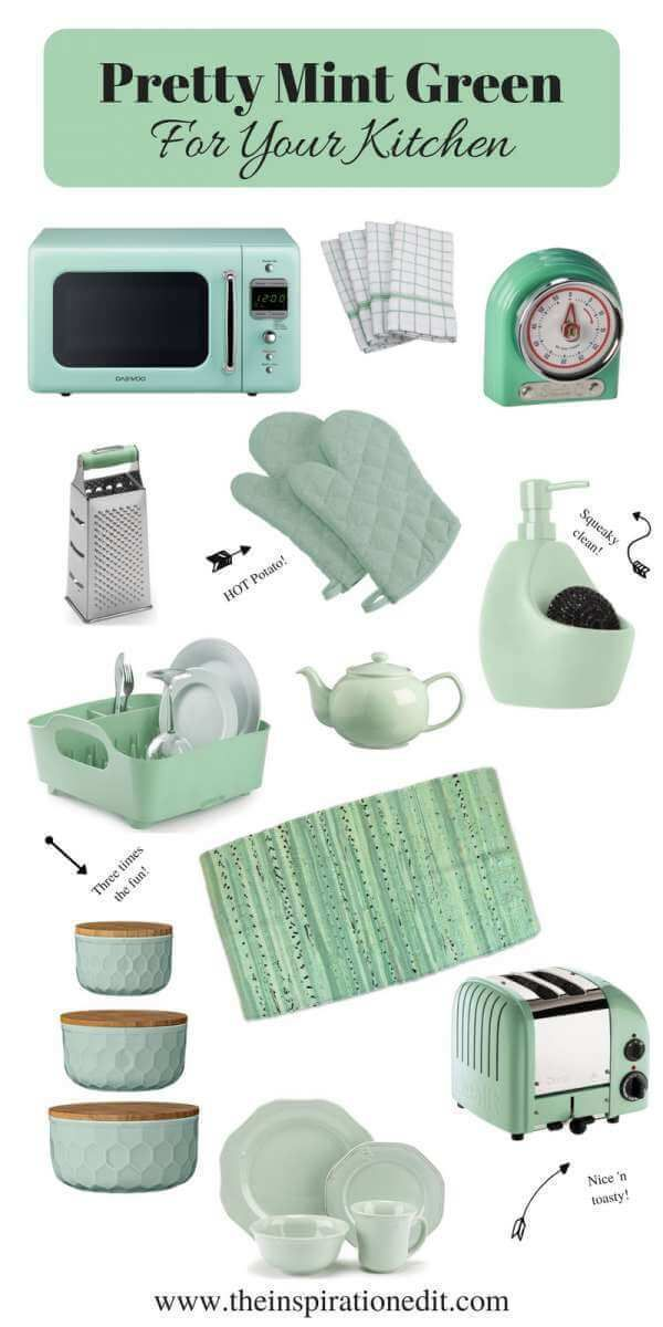 Cute Mint Green Kitchen Ideas For The HomeHome Style And InteriorsCute Mint Green Kitchen Ideas For The Home Today I am sharing some super cute Mint Green Kitchen products which can help make a cute theme in your hom...