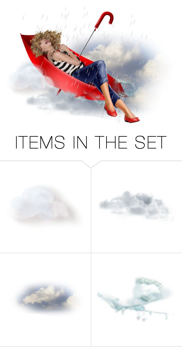 """Sitting Pretty In My Umbrella"" by taniucha ❤ liked on Polyvore featuring art, doll, rain and umbrella"