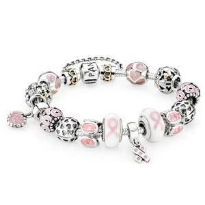 Lutte Contre Le Cancer, La Lutte, Octobre Rose, Le Ruban, Rubans,  Recherche, Charms Pandora, Bracelets Pandora, Bijoux De Pandora
