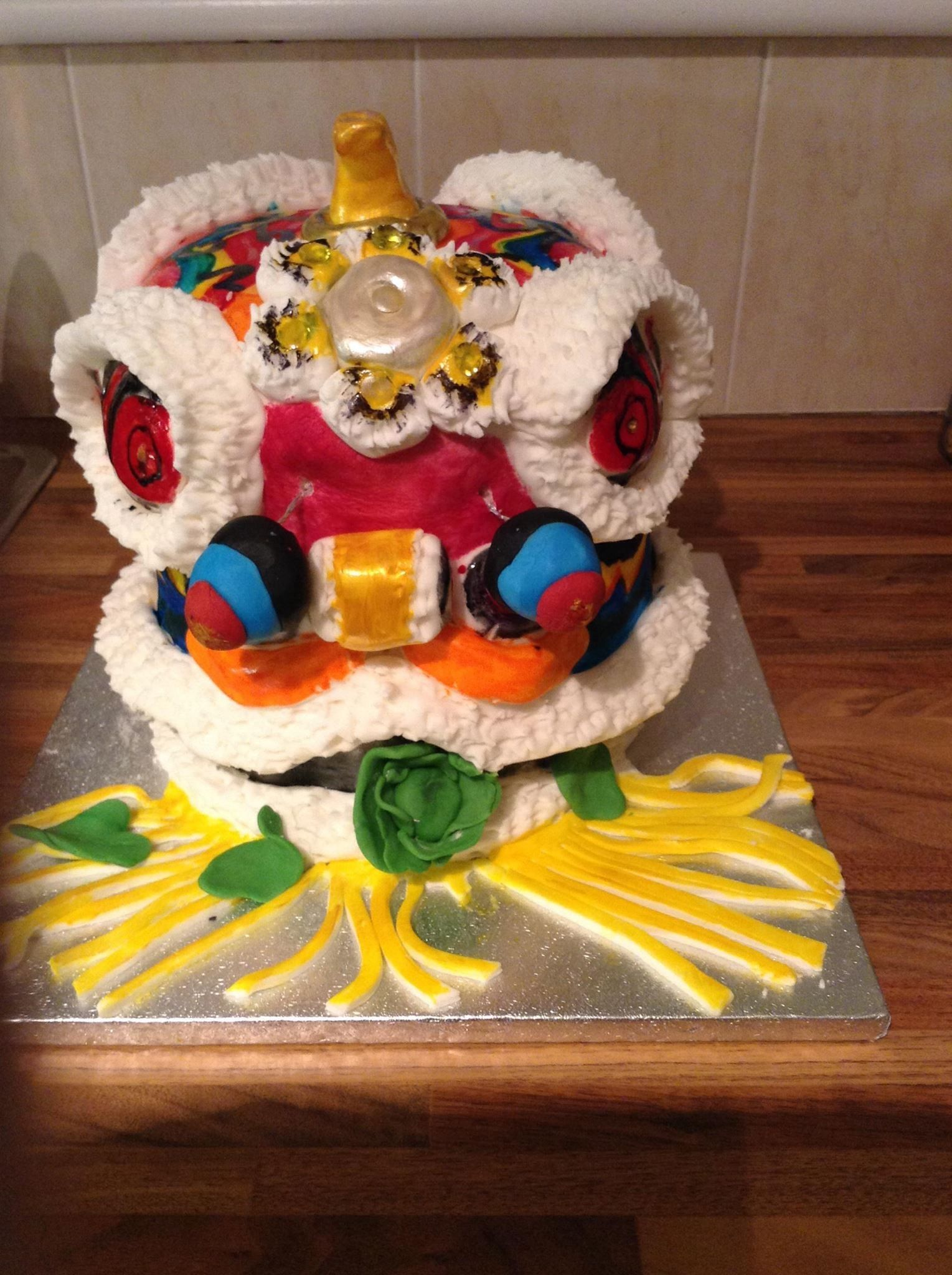 Chinese lion cake lion cakes cake desserts