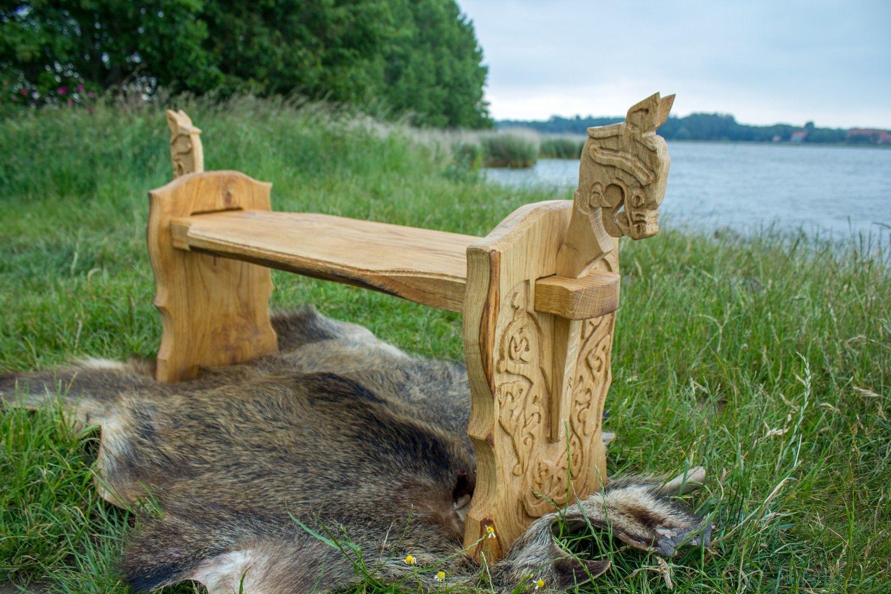 bildergalerie st hle die wikinger holzkunst schnitzerei aus angeln steckst hle throne von. Black Bedroom Furniture Sets. Home Design Ideas