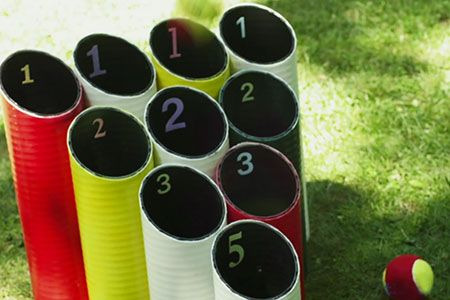 How to Build a Pipe Ball Lawn Game is part of lawn Games Children - TOH's Team Saturday shows how to cut and connect drainpipe into a rack for a simple but challenging balltoss lawn game