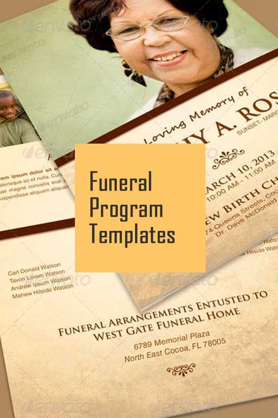 Funeral Program Template Collection