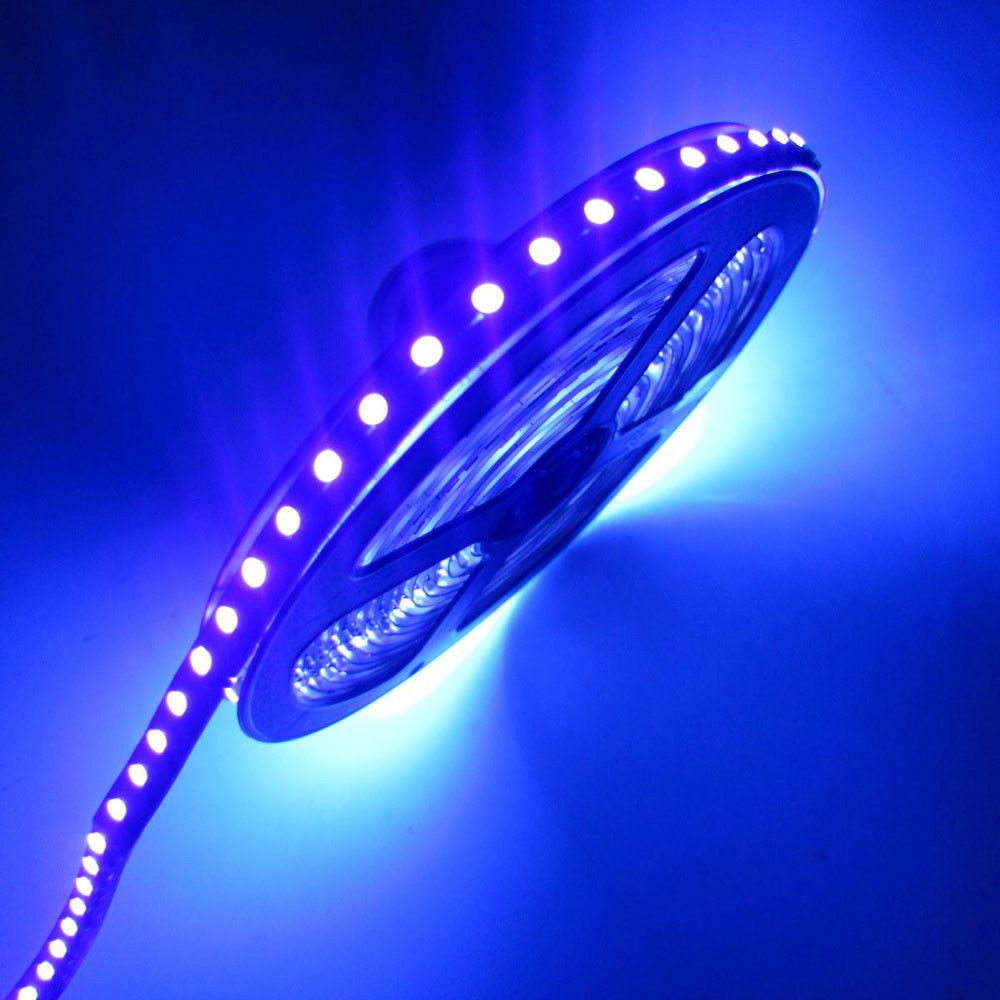 16 4ft 5m Uv 3528 Smd Purple 600 Led Flex Strip Light Non Waterproof 12v Superbright 3528 Smd Uv Ultraviolet Led Black Lamps Led Flexible Strip Strip Lighting
