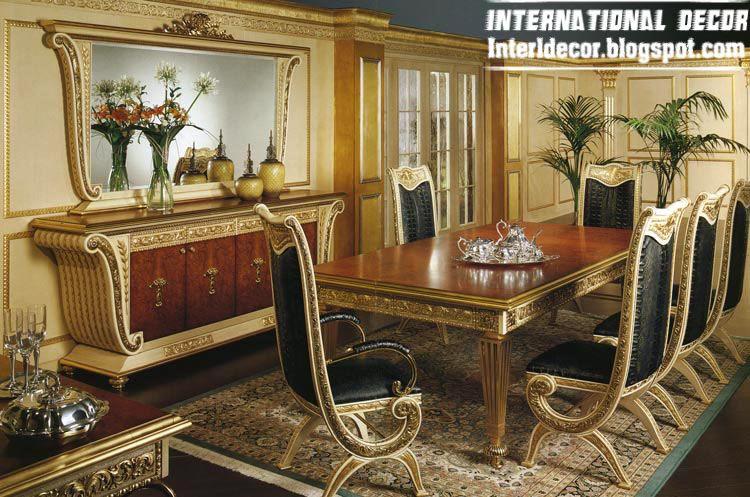 luxury Italian dining room furniture, glided dining room furniture ...
